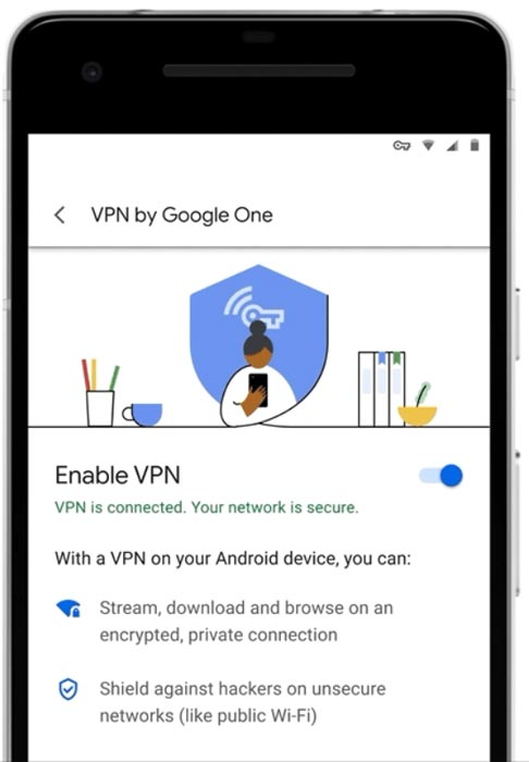 Google One VPN in Android