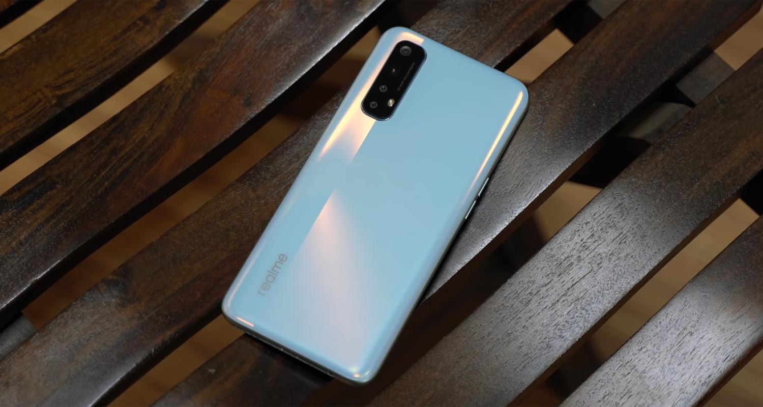 Realme 7 Back Side on the table