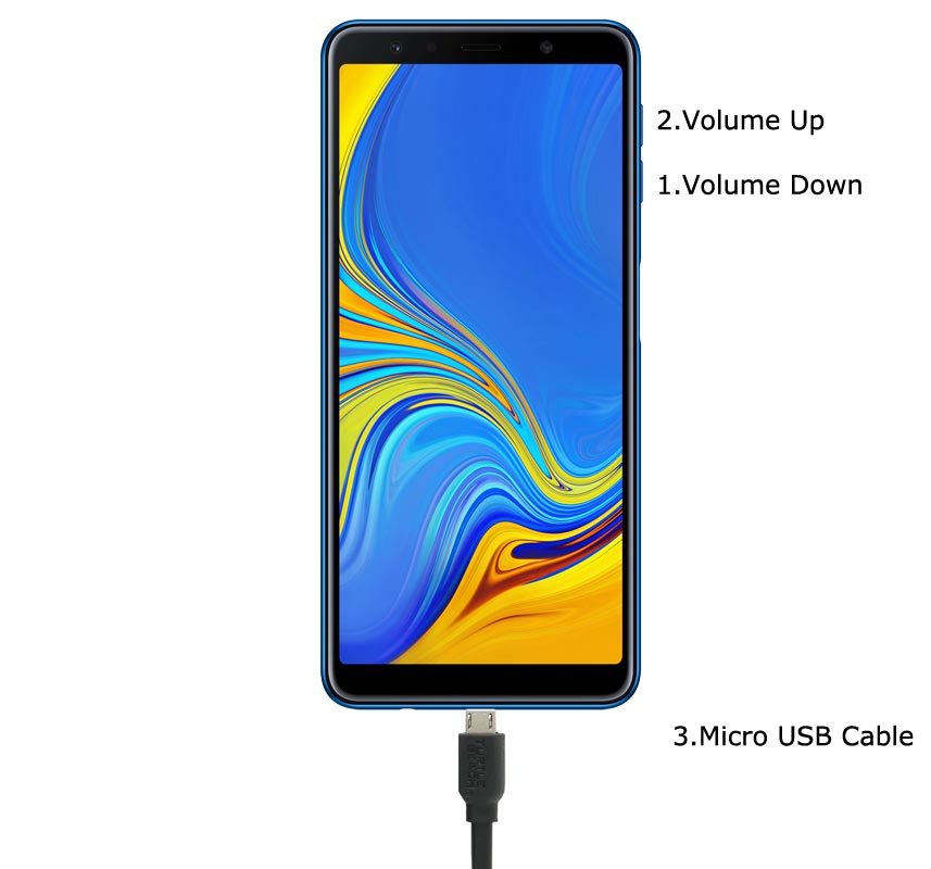 Samsung Galaxy A7 2018 Download Mode Keys