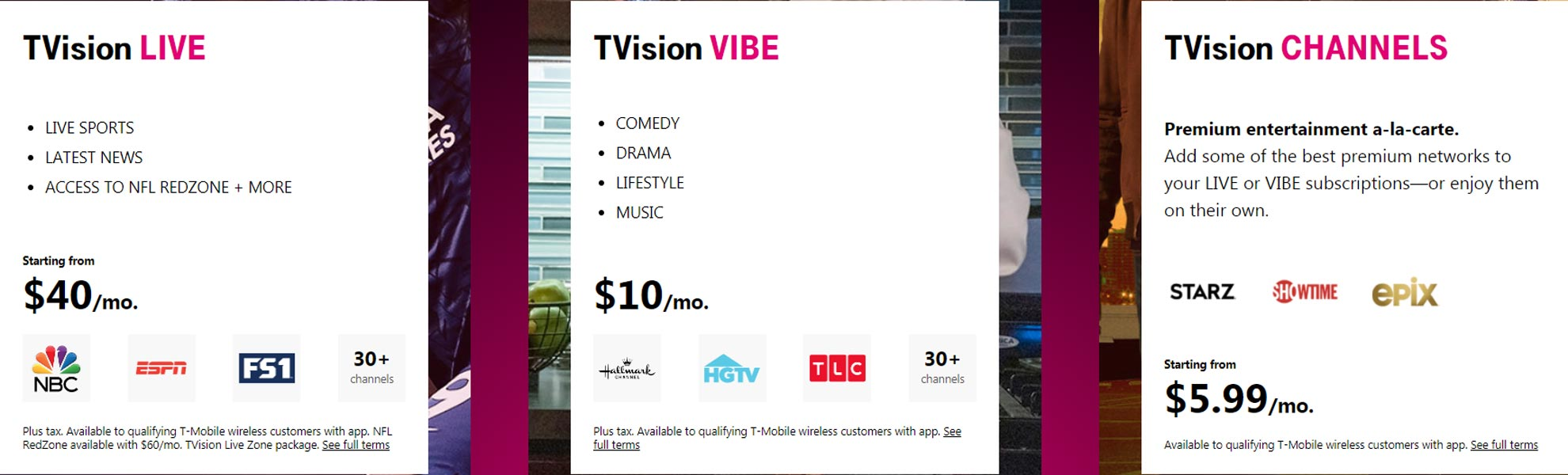 TVision Subscription Packages