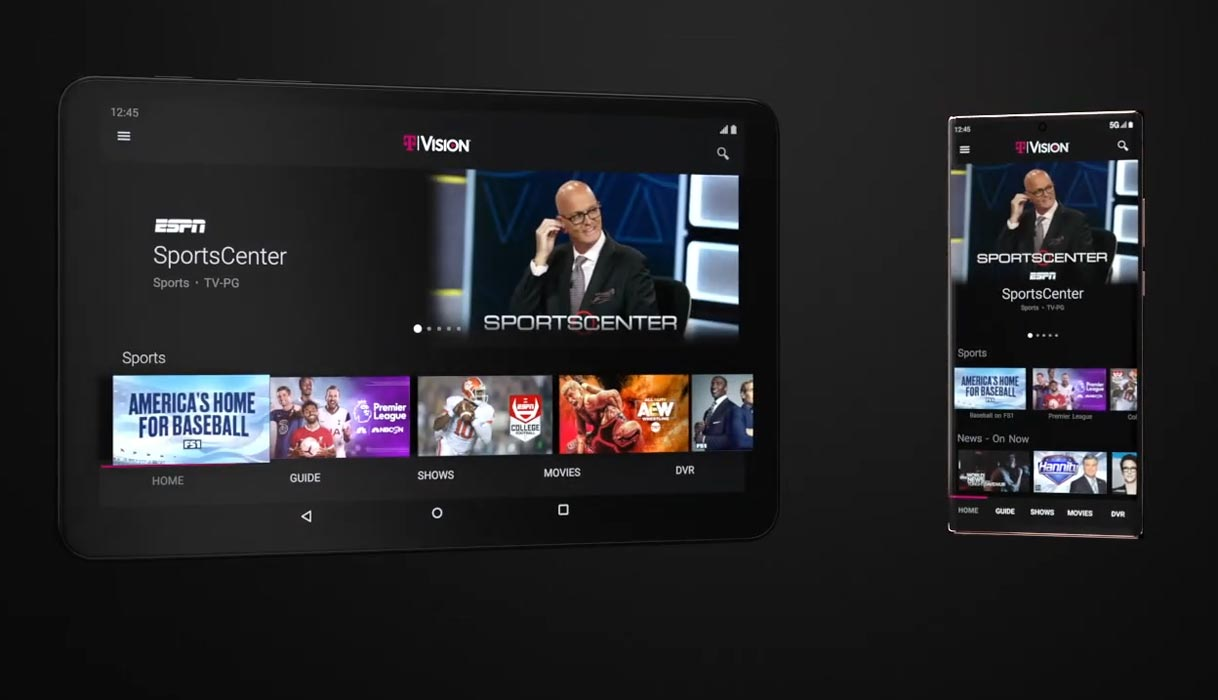 TVision on Tablet and Mobile