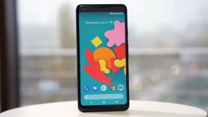 Google Pixel 2 XL Unlocked Home Screen on the table