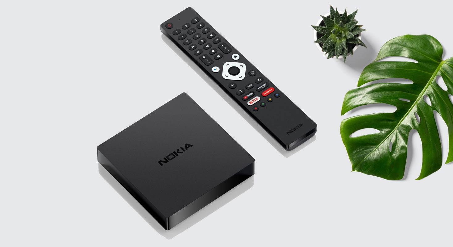 Nokia Android TV Box with Numbered Remote Control