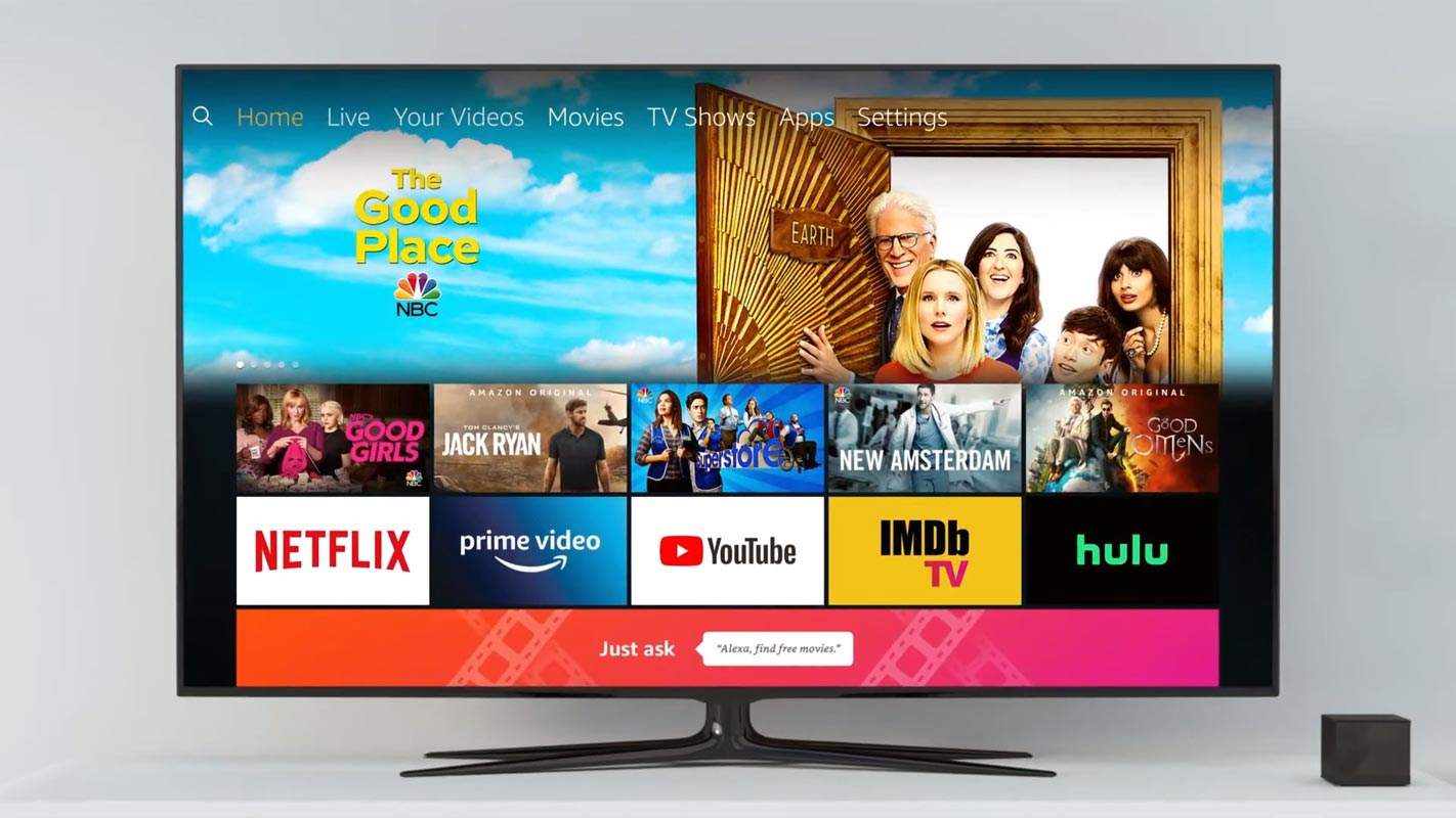 Amazon Fire TV with Cube Home Screen
