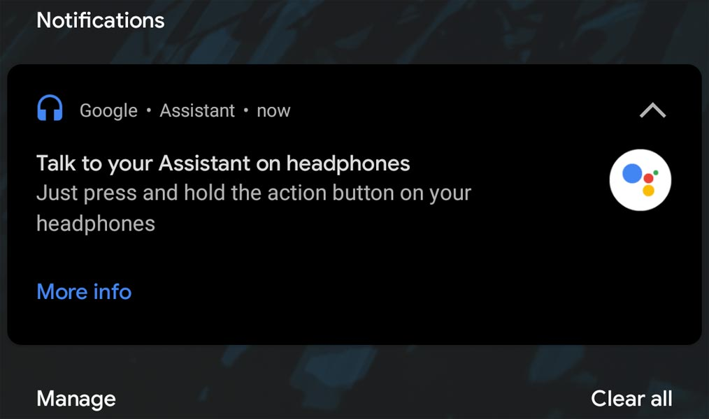 Google Assistant Wired Headphone Notification Setup