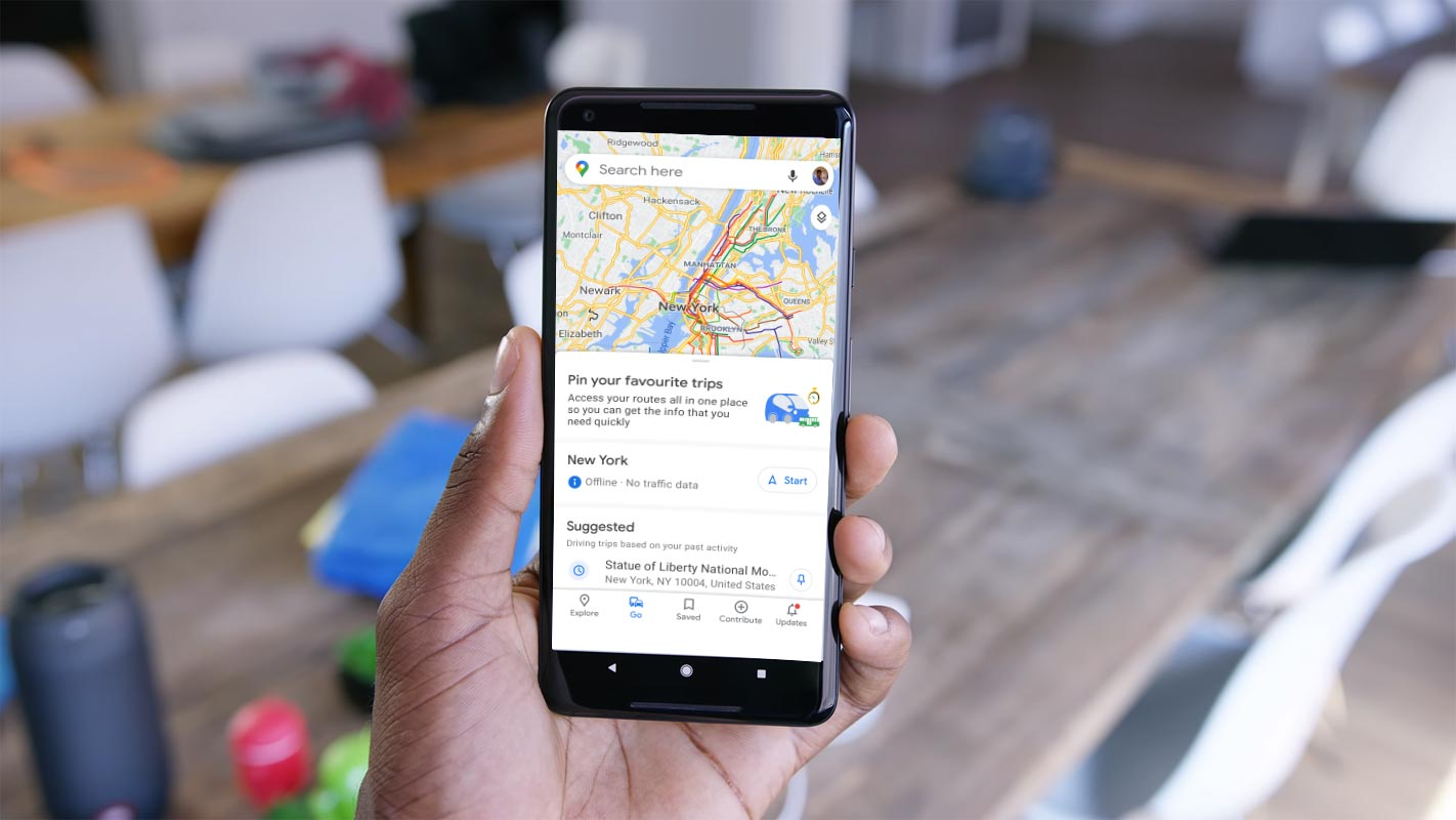 Google Maps Go Option in Pixel 2 XL