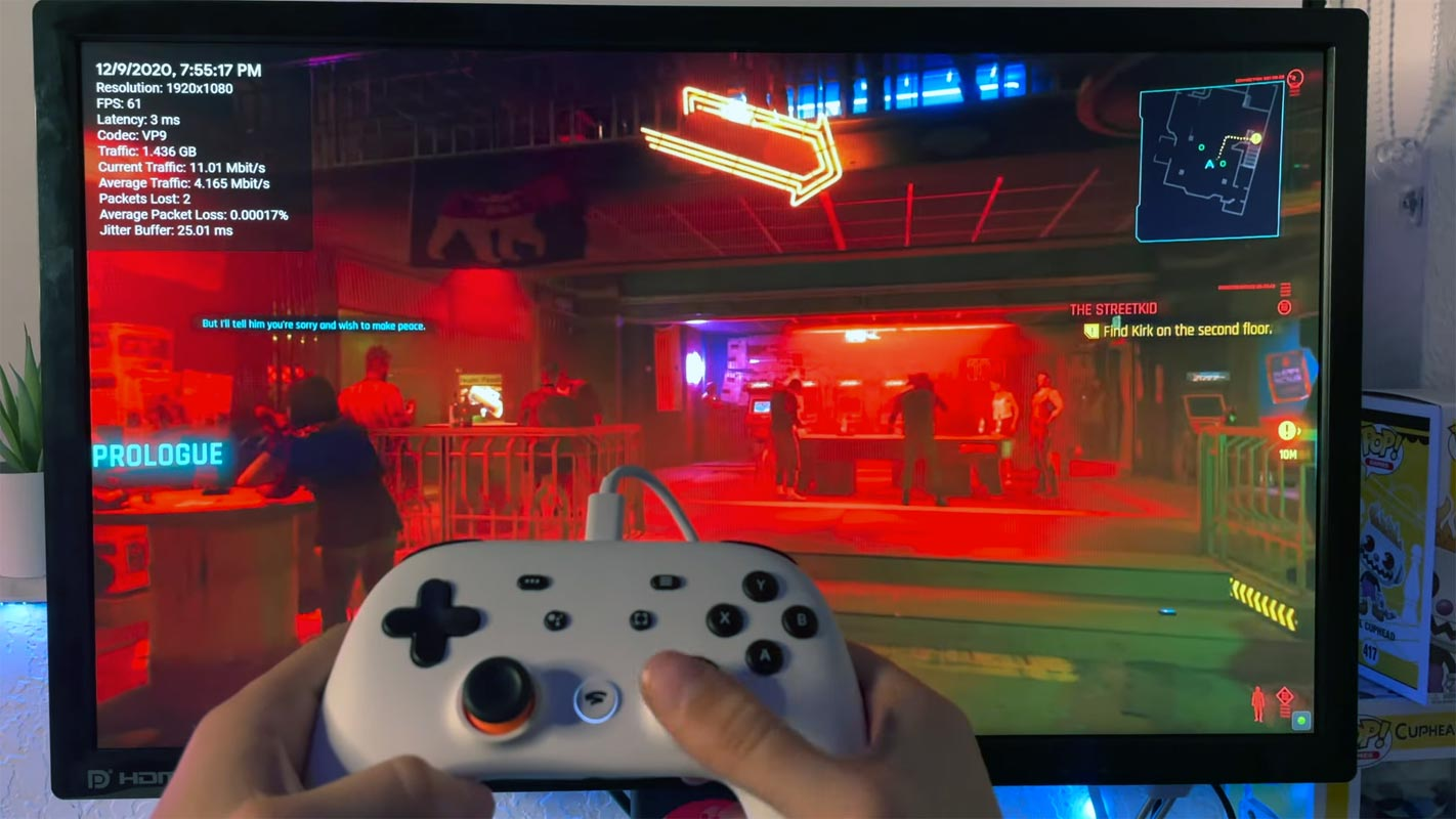 Google Stadia Cyberpunk 2077 YouTube Stream