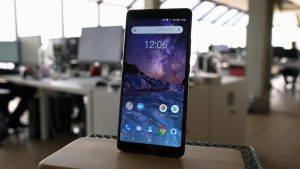 Nokia 7 plus Home Screen on the table