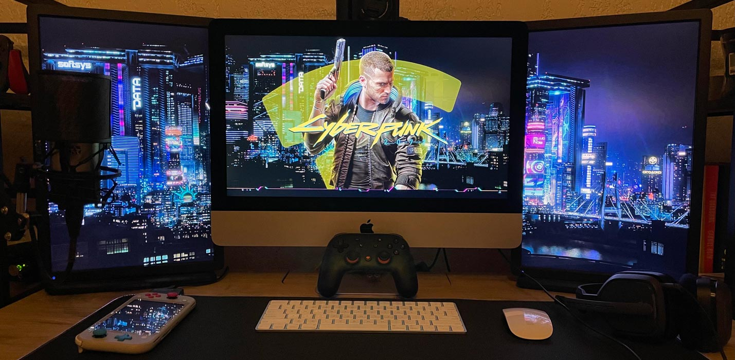 Playing Cyberpunk 2077 with Google Stadia in Mac