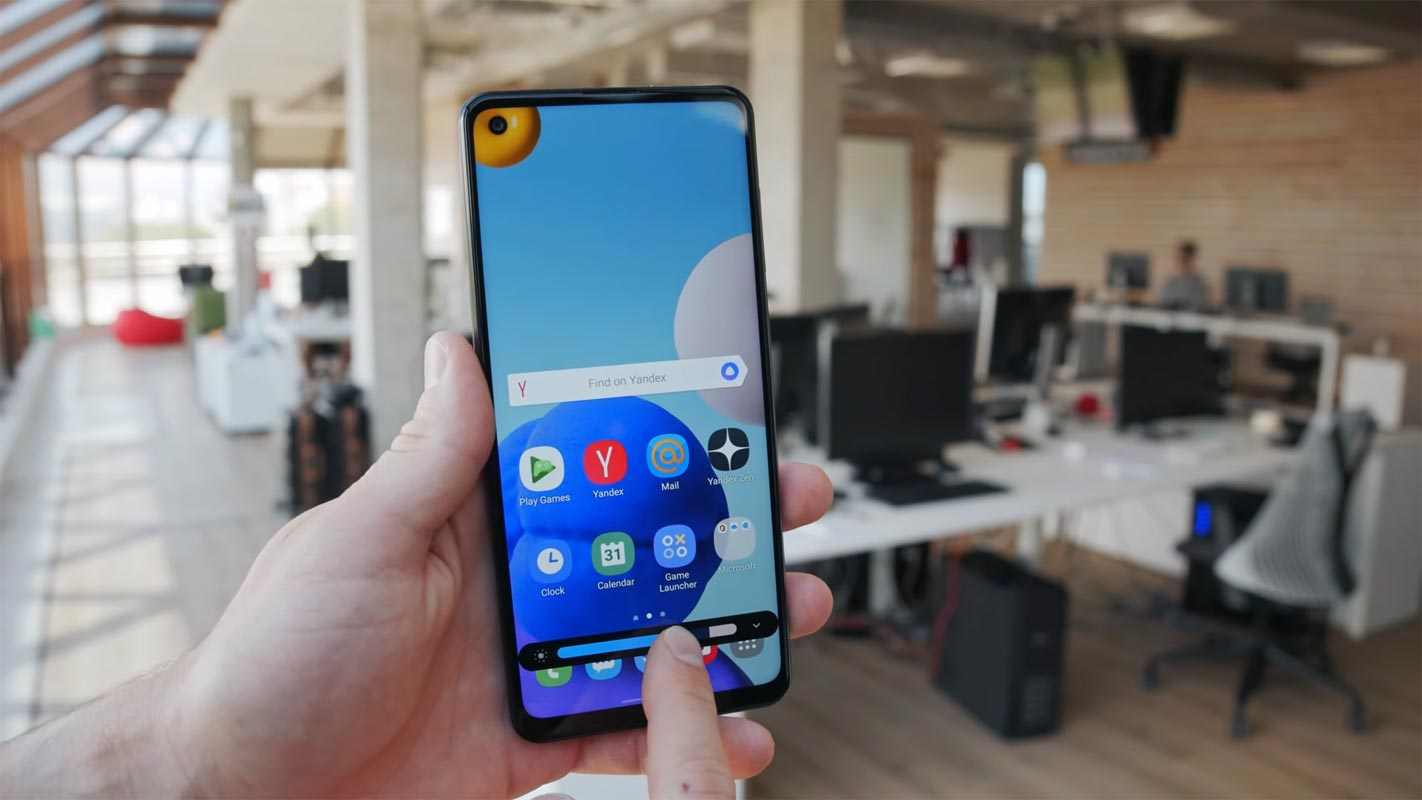 Samsung Galaxy A21s Adjusting Brightness