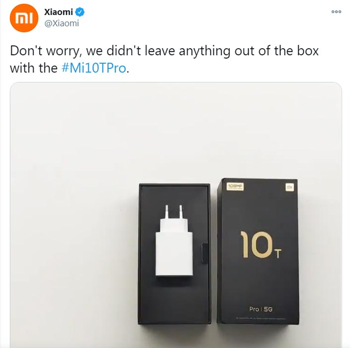 Xiaomi Makes Joke about Apple Charger Removal