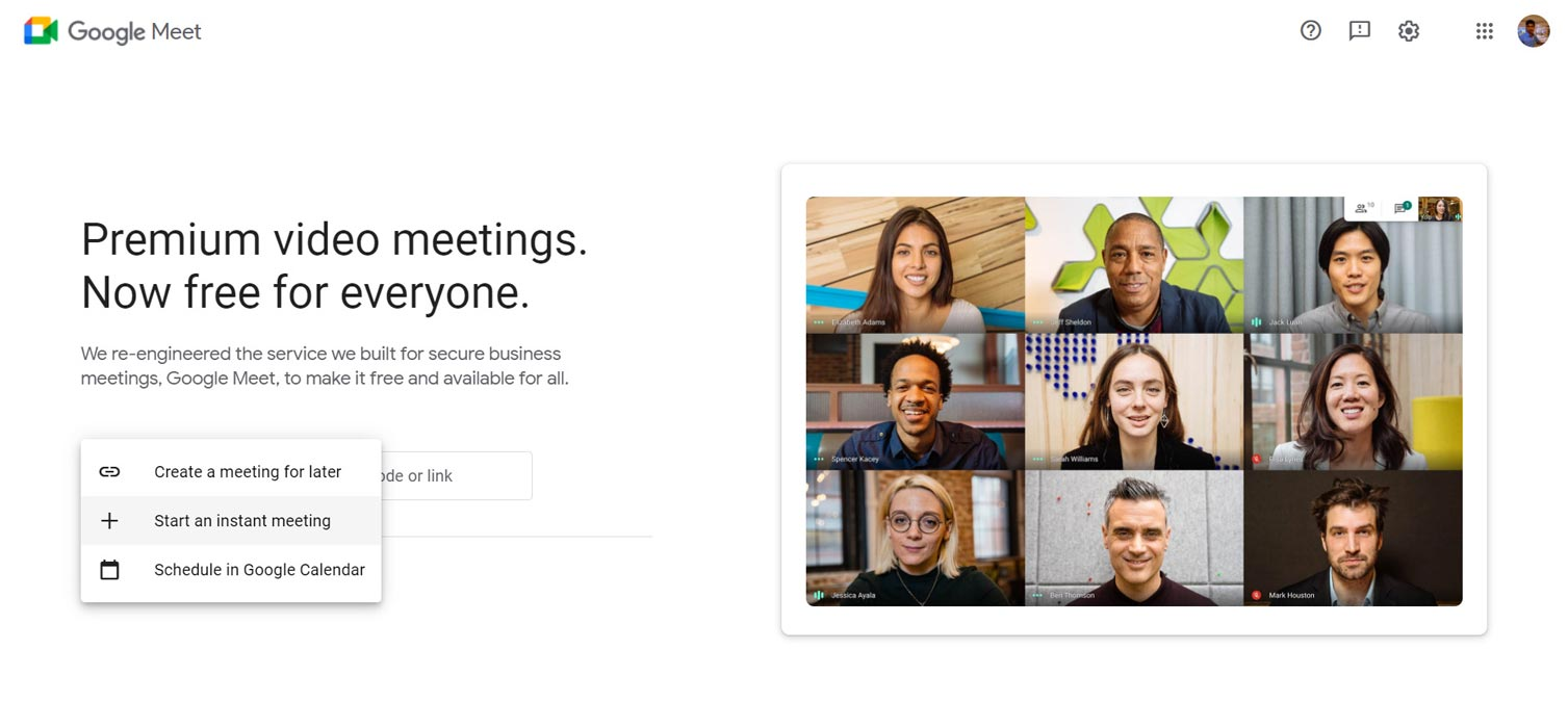 Google Create New Options Instant Later and Calendar