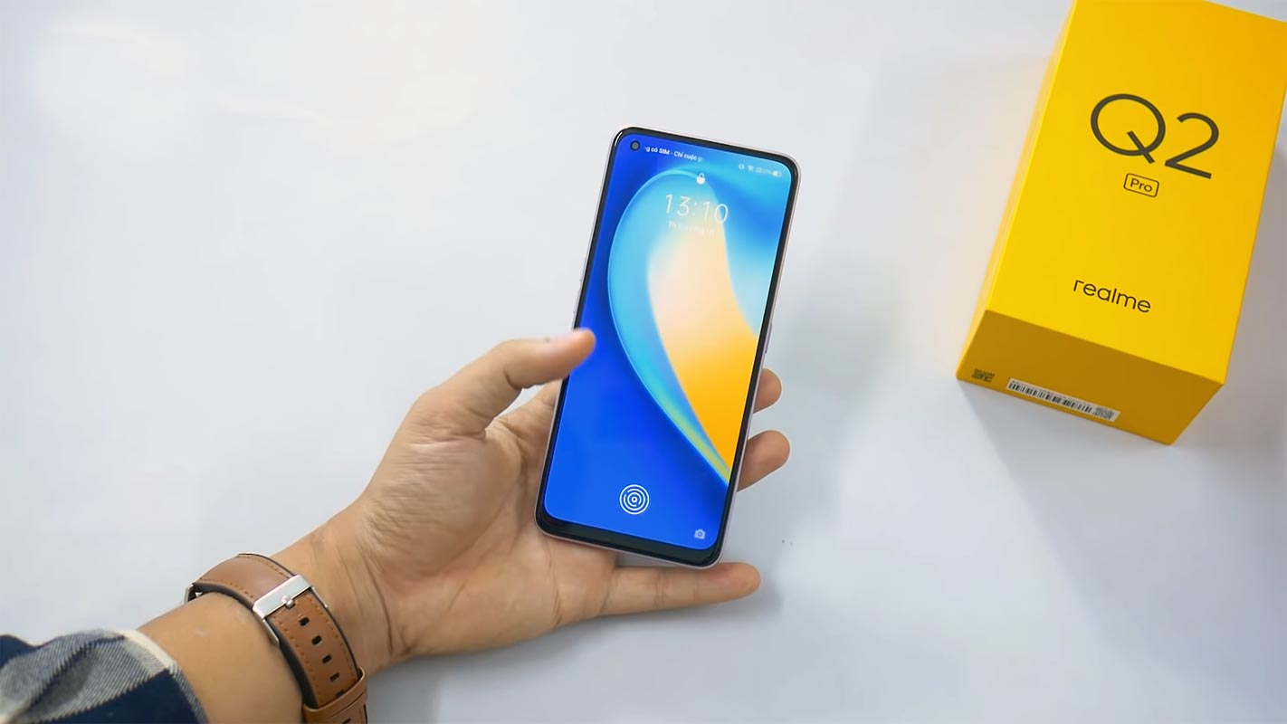 Realme Q2 Pro with retail box