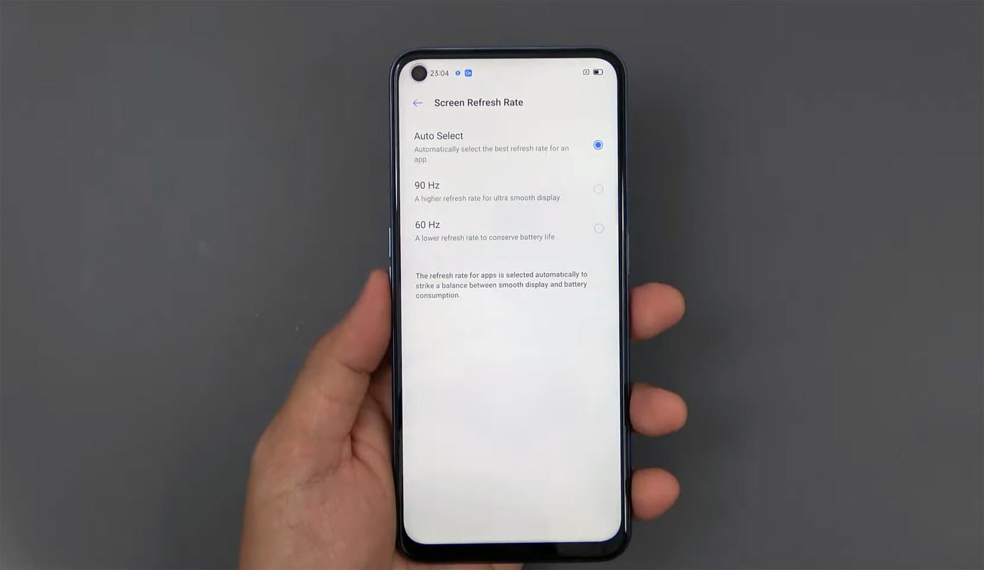 Realme V5 Android 10 Display Refresh Rate