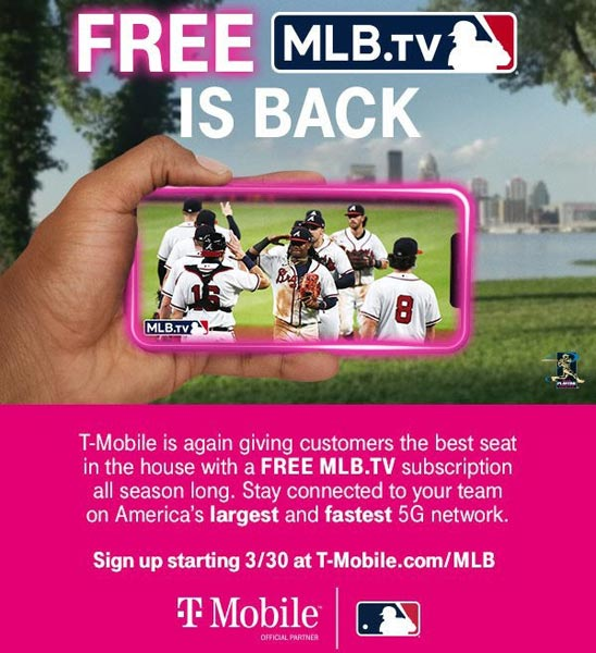 2021 Year MLB Subscription with T-Mobile Tuesdays
