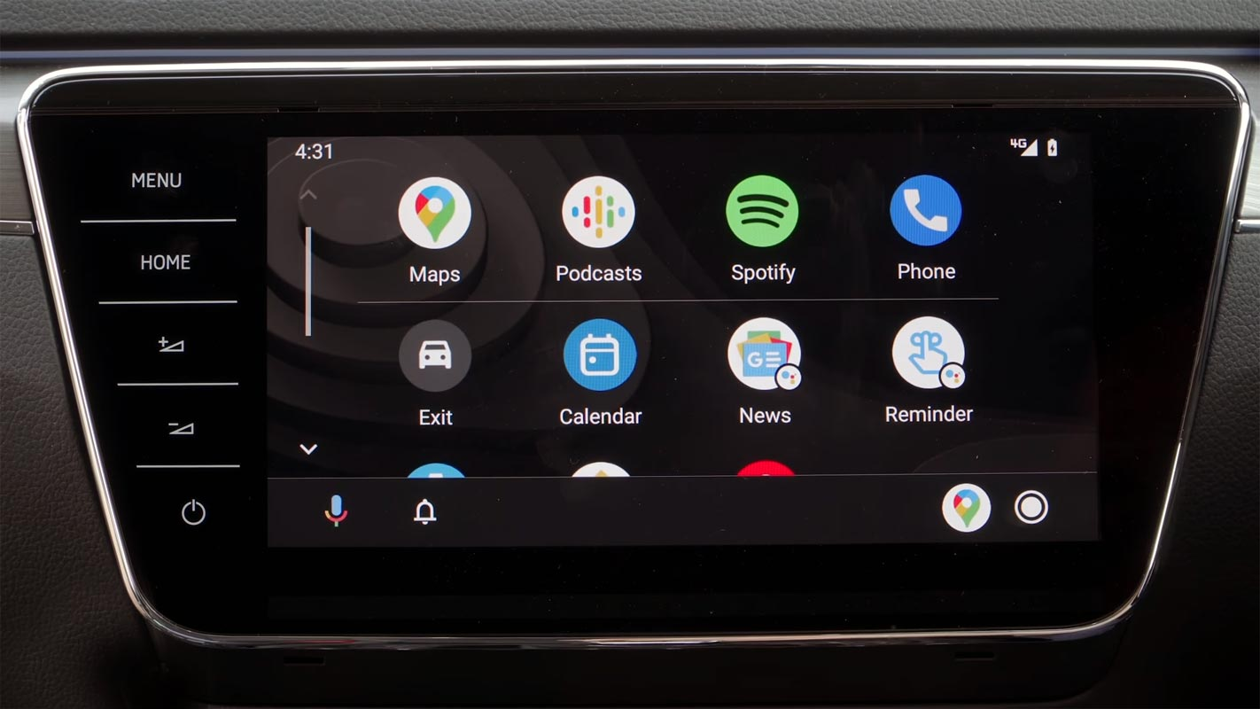 Android Auto App Screen