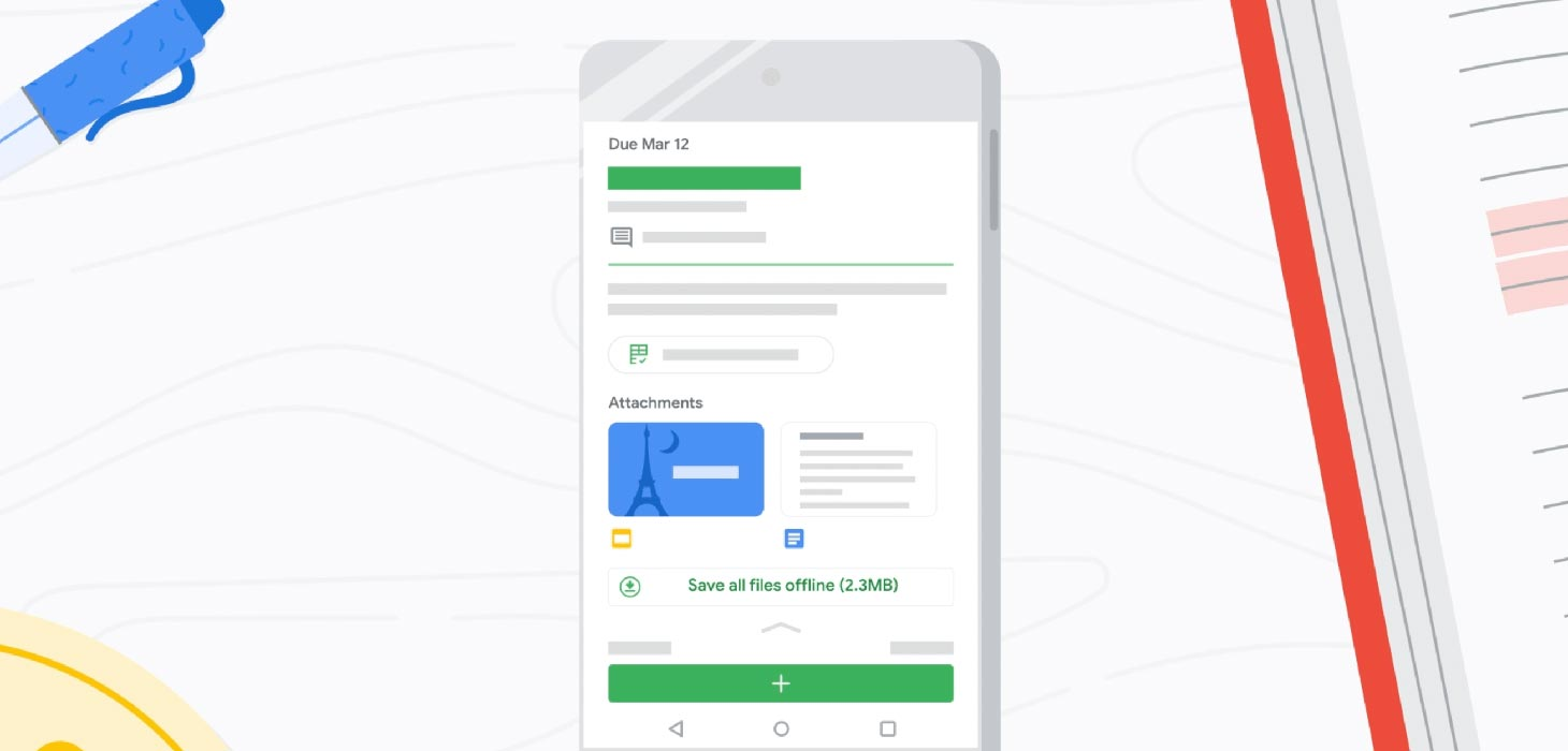 Google Classroom Offline Mode Android