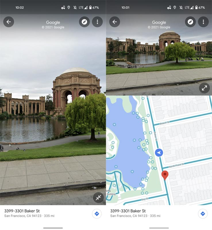Google Maps Split Screen UI in Android