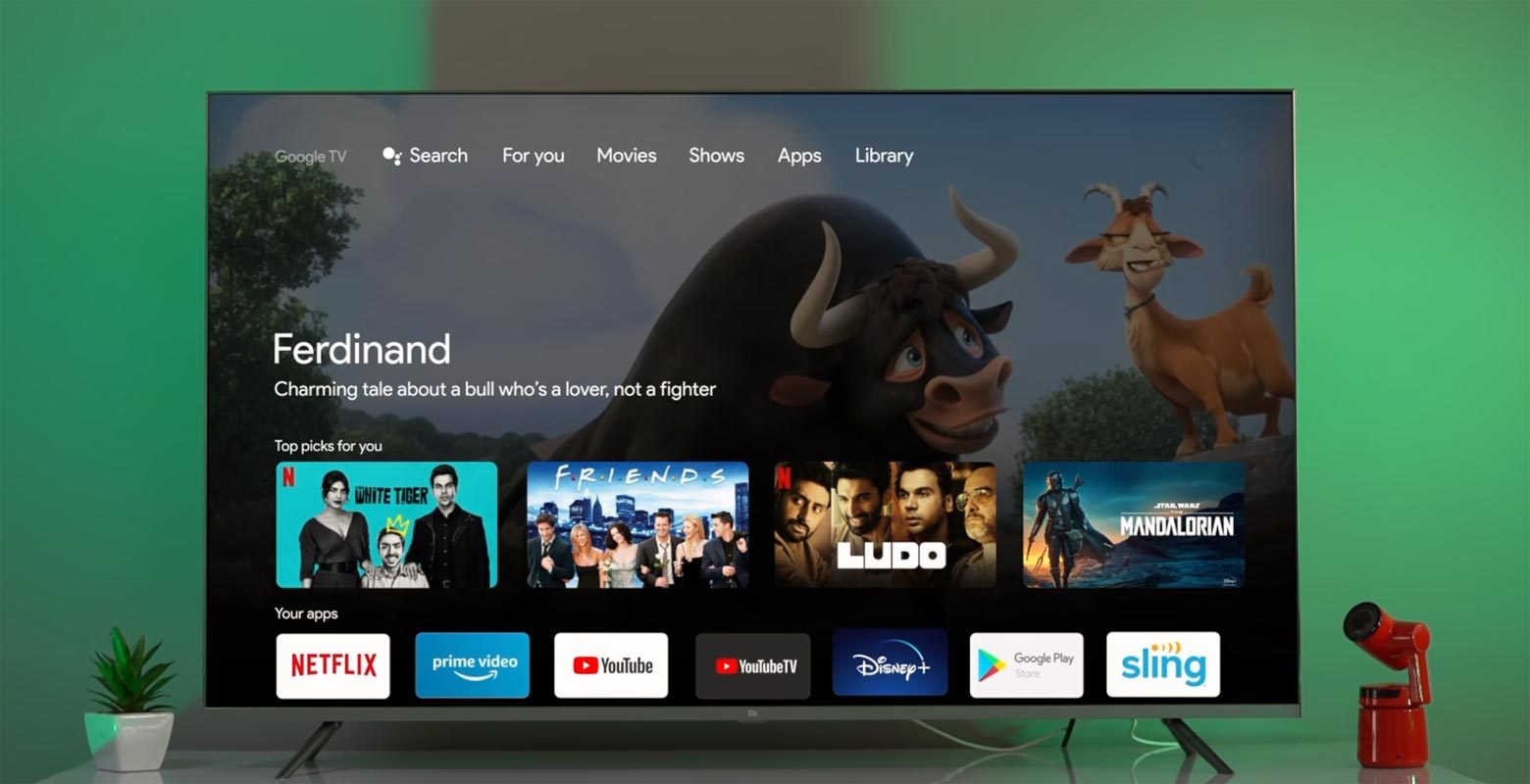 Google TV UI in Android TV with Apps