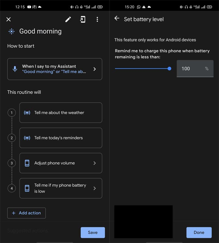 Low Battery Alert Google Assistant Routines