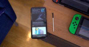 Moto G Stylus 2020 with Pen on the Table