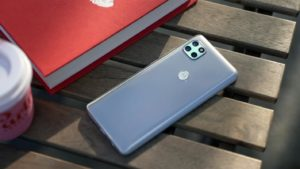 Motorola One 5G Back Side on the Table