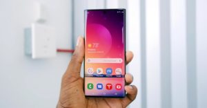 Samsung Galaxy Note 10 Unlocked Home Screen Page