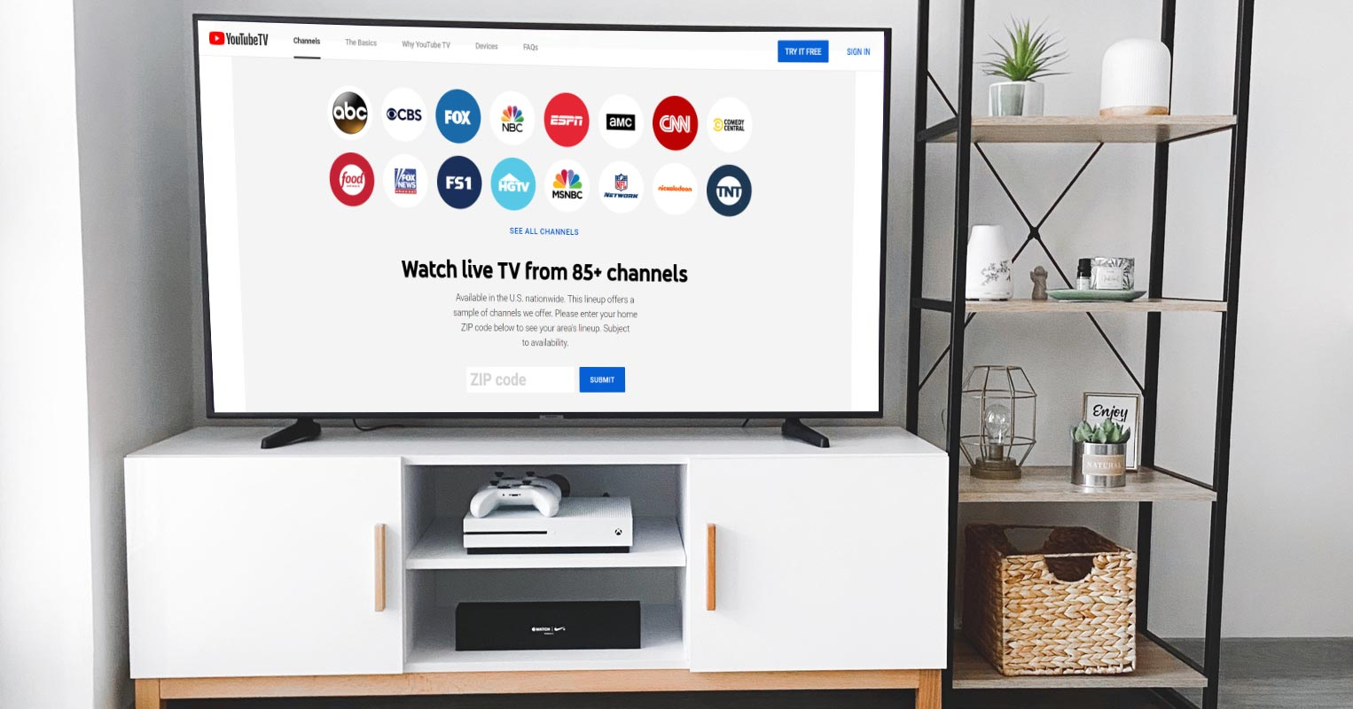 YouTube TV Welcome Screen on Android TV