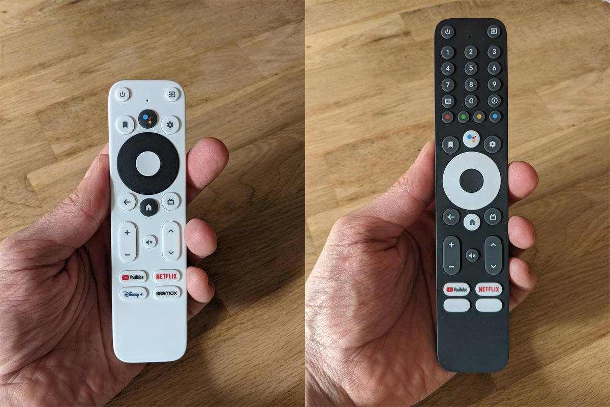 2021 Google TV Box Remote with Numbers Settings Exit