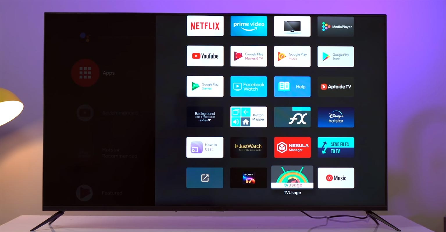 Android TV Apps Screen