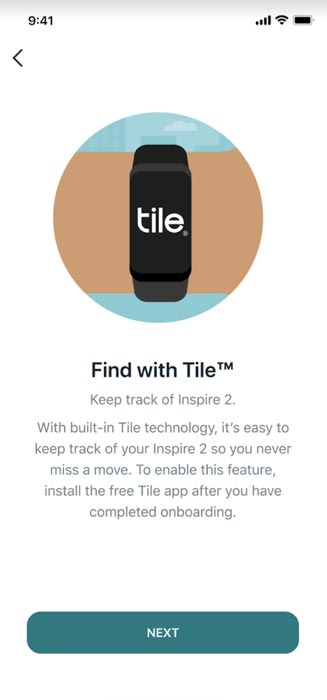 Fitbit Inspire 2 with the Tile App