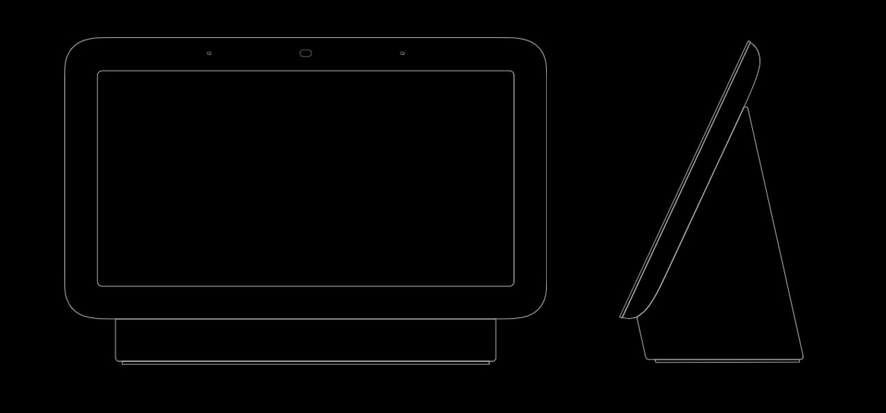 Google Nest Hub 2nd Gen Front and Side View