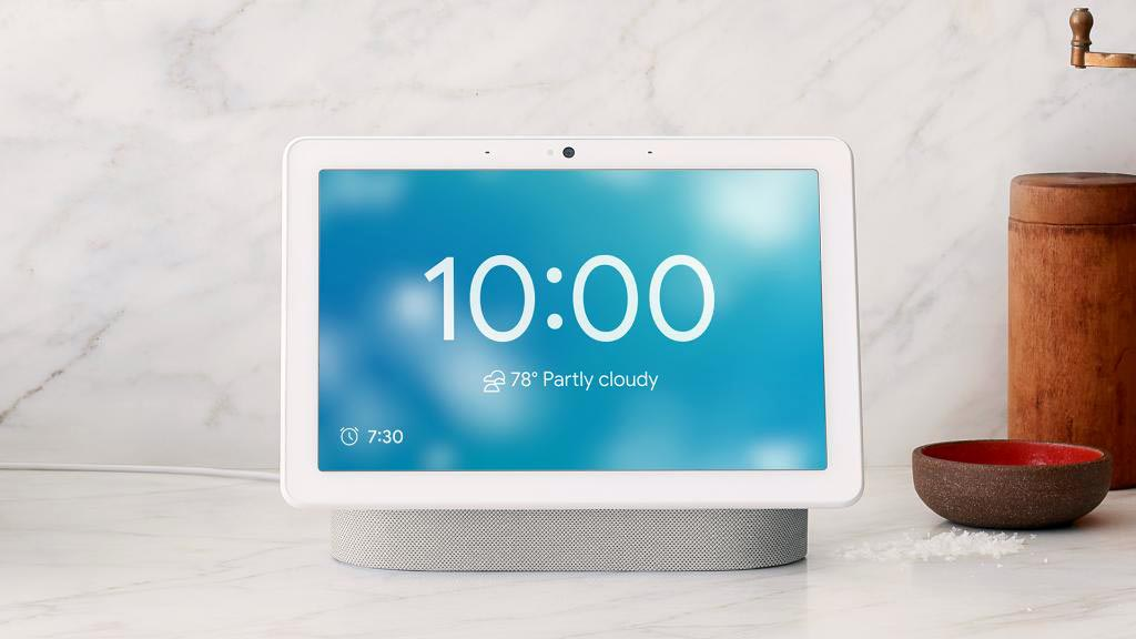 Google Nest Hub Time and Weather Clock face