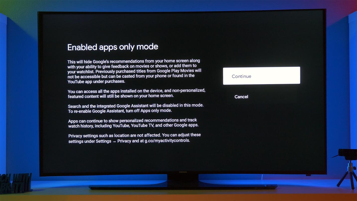 Google TV Chromecast Apps Only Mode