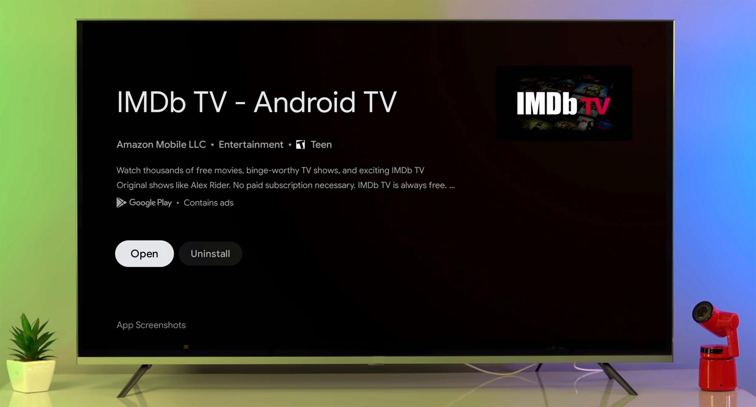 IMDB TV App Android TV Google TV Chromecast