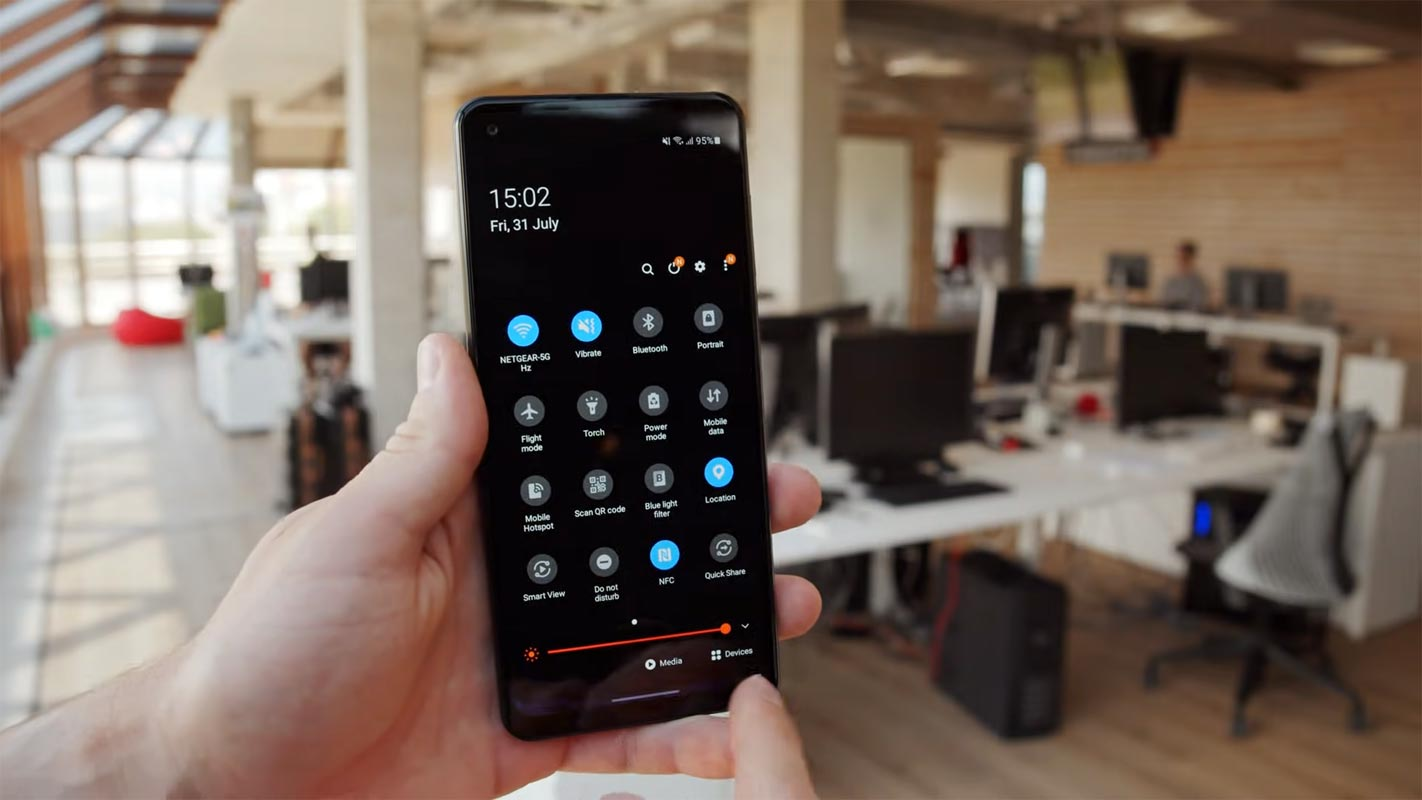Samsung Galaxy A21s Android 11 Notification Bar