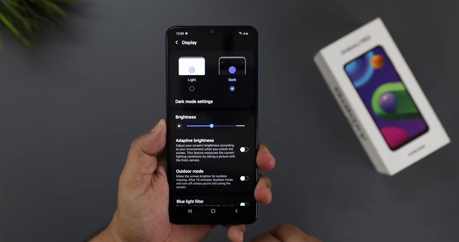 Samsung Galaxy M02 Display Modes