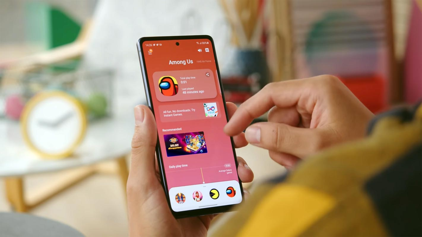 Samsung Galaxy S20 FE 5G Android 11 Among US Game