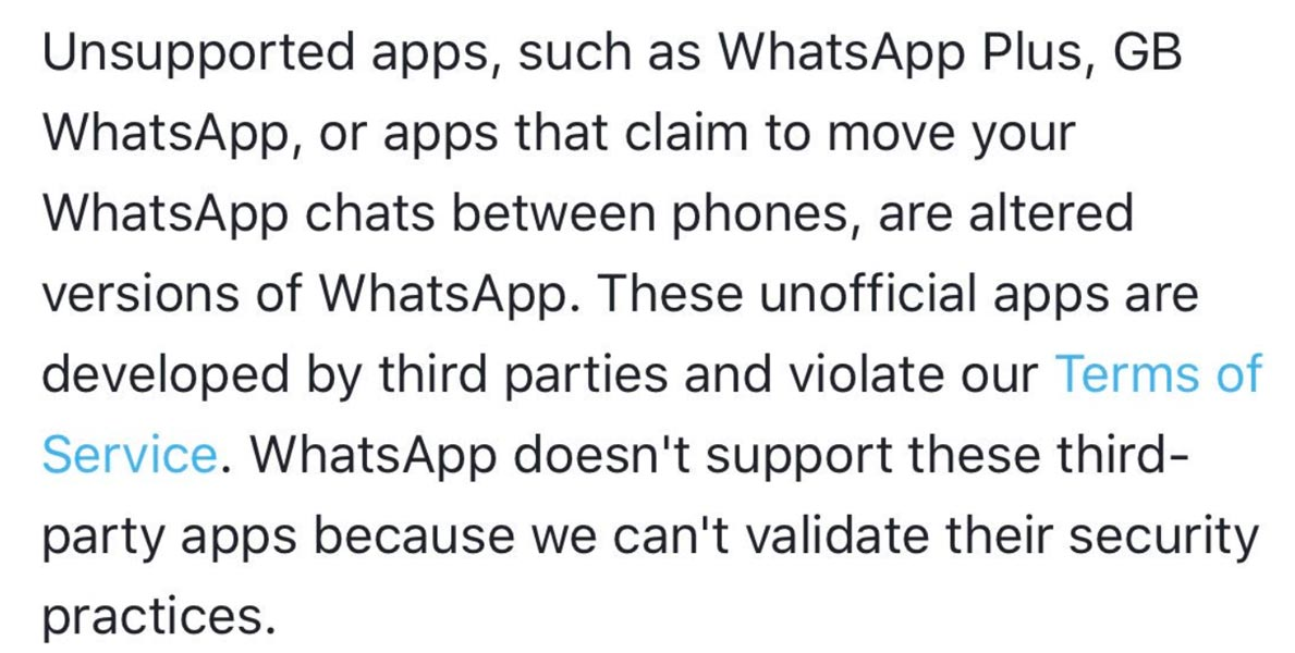 WhatsApp Migration Terms and Conditions