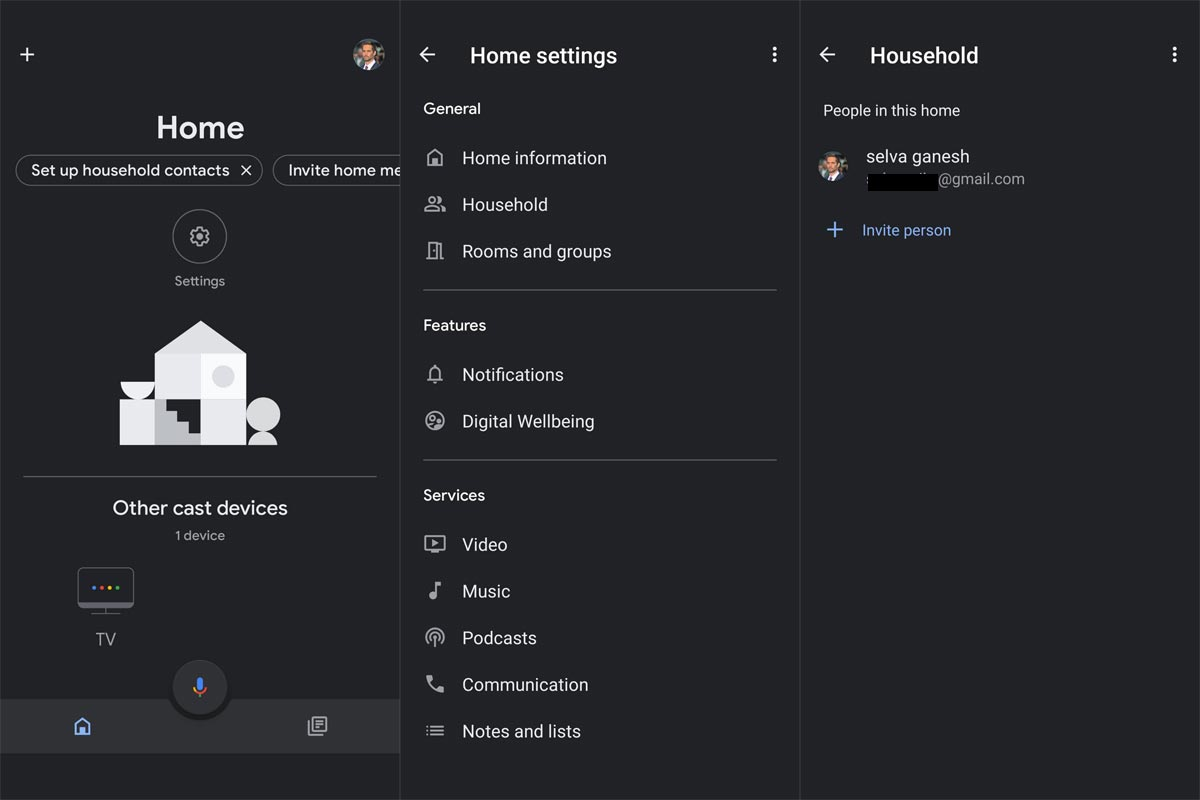 Add Family Members to Google Home