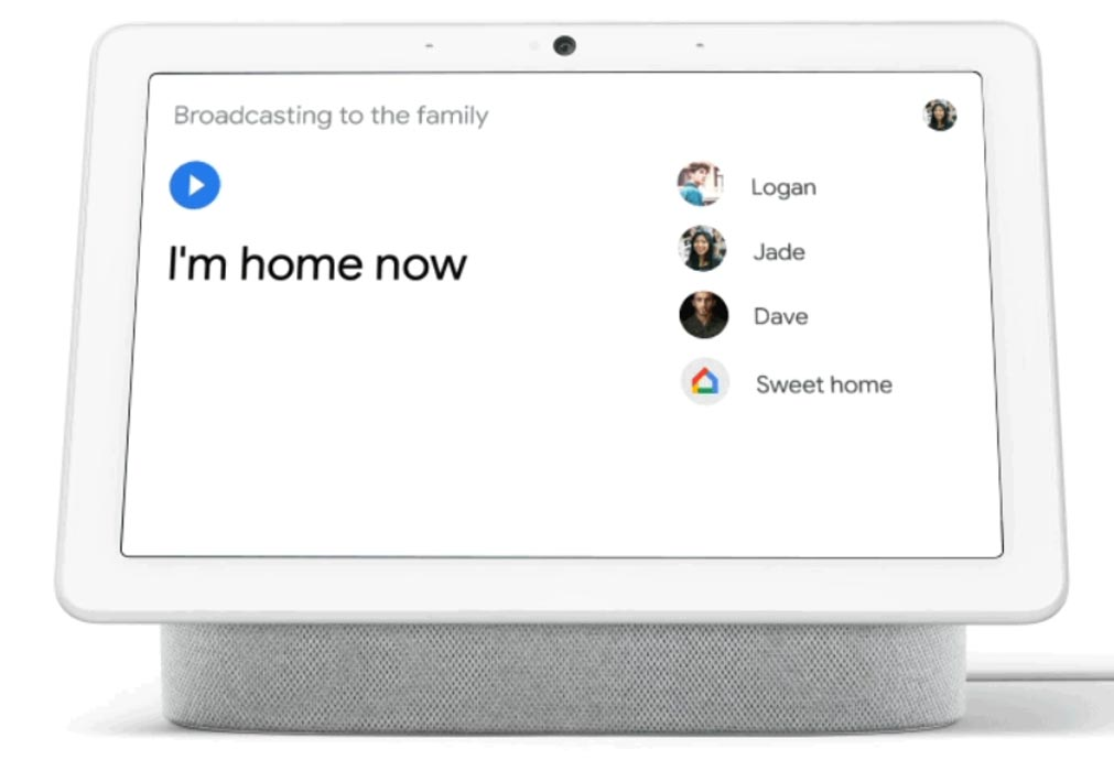 Google Assistant Broadcast in Hub