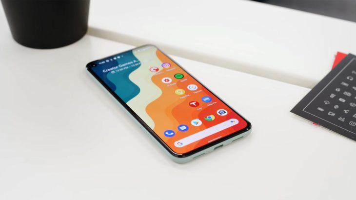 Google Pixel 5 Apps Screen on the Table