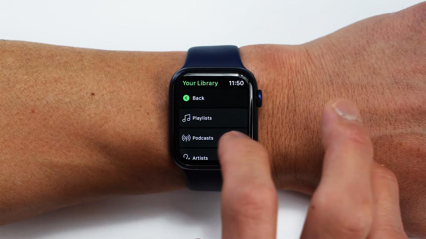 Spotify Offline Play List Playing in Apple Watch