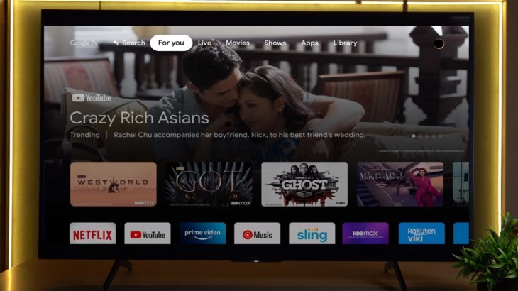 Google TV Home Page AD Preview