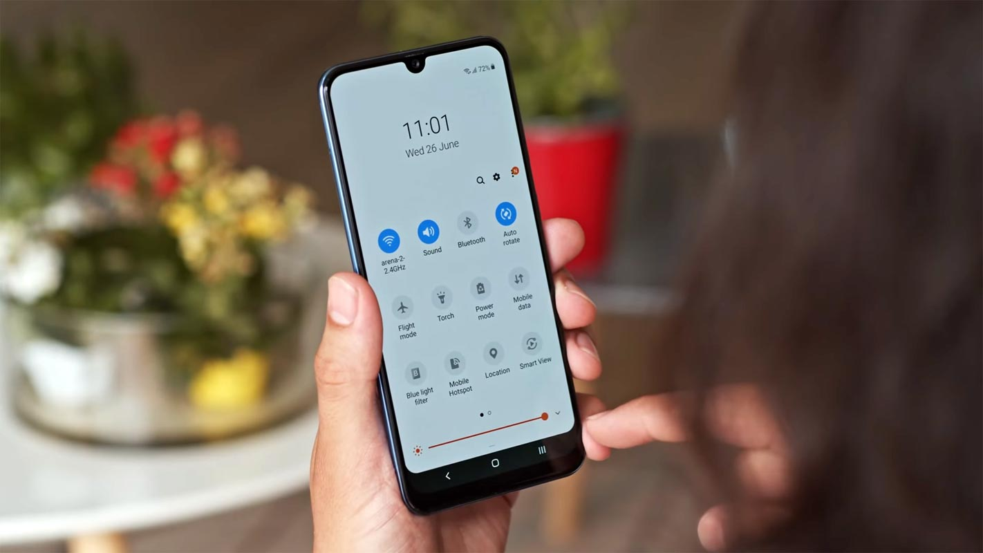 Samsung Galaxy A30 Android 11 Notification Screen