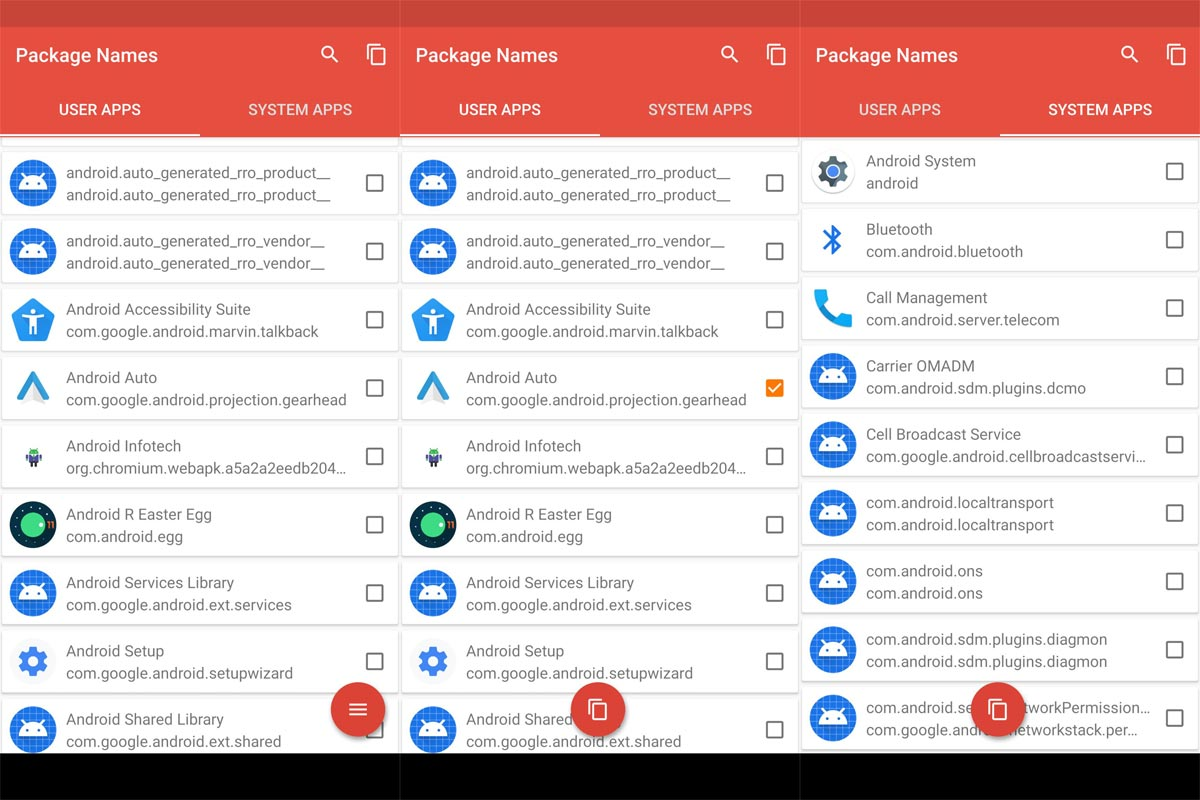Android Apps Package Name find using Third Party App