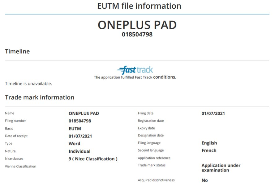 OnePlus Tablet OnePlus Pad Offiicial Information