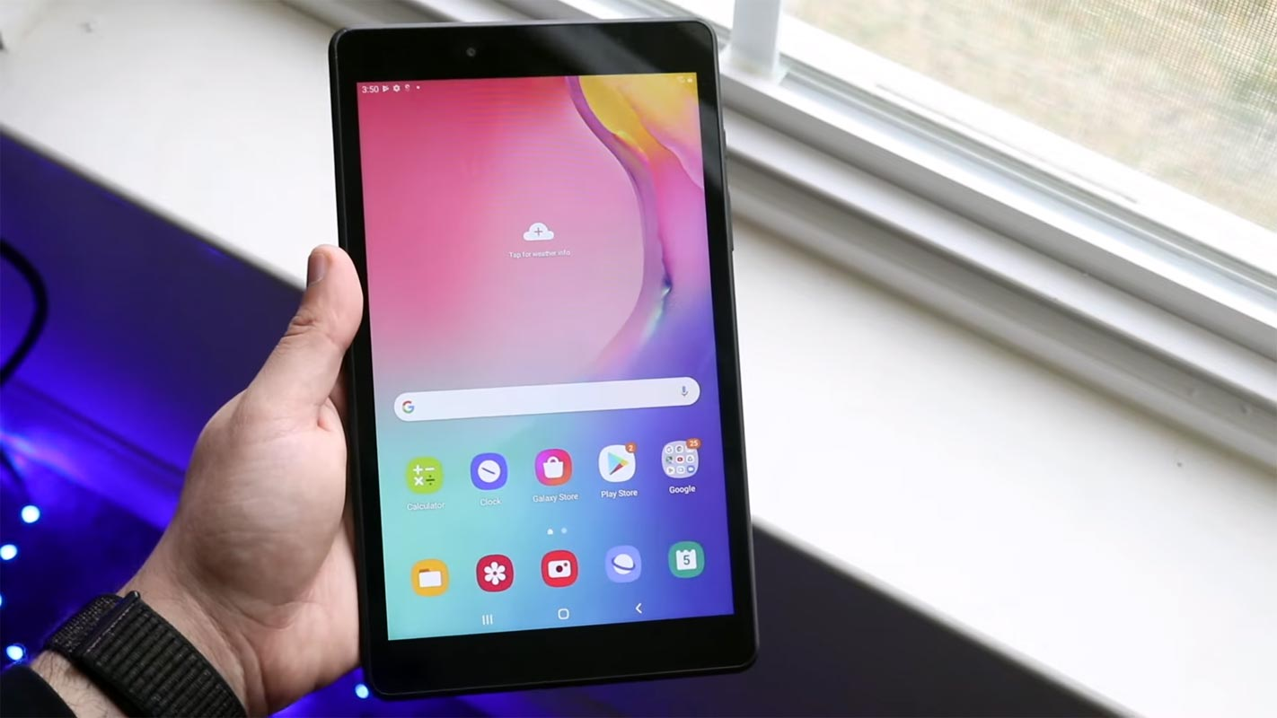 Samsung Galaxy Tab A 8.0 2019 Android 11 Home Screen