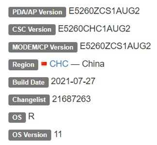Samsung Galaxy F52 5G Android 11 Firmware Details