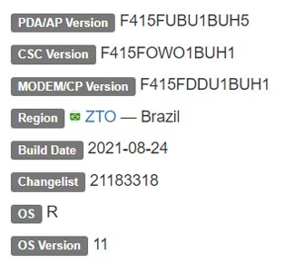 Samsung Galaxy M21s Android 11 Firmware Details